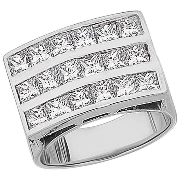 'Princess Grande' Channel Set Princess Cut Diamond Ring