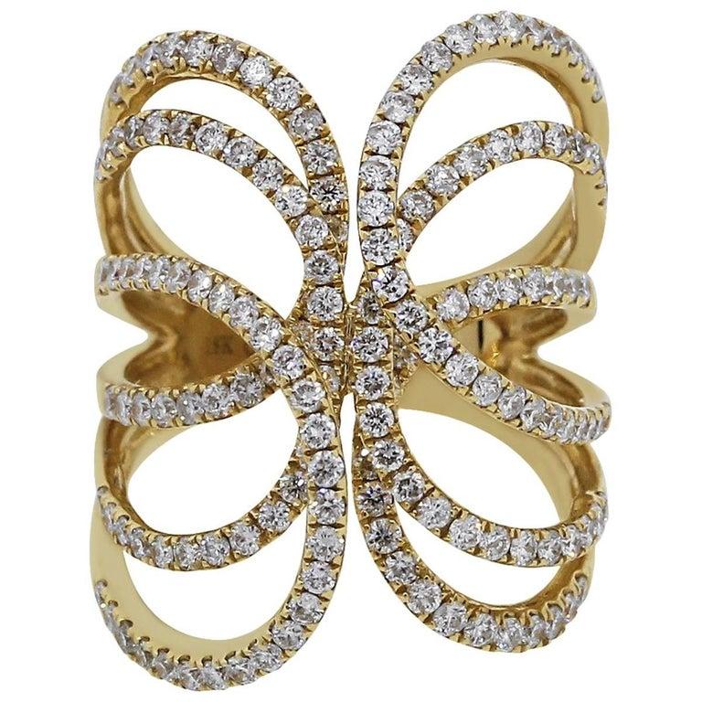 Diamond Geometric Ring