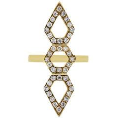 Diamond Wide Geometric Ring
