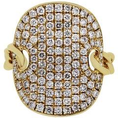 Pave Diamond Shield Ring