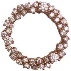 Rose Gold Diamond Round Pendant