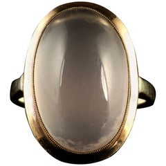 Antique Victorian Moonstone Gold Ring, circa 1900