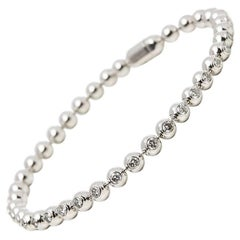 Cartier 18 Karat White Gold Diamond Perles De Diamants Tennis Bracelet