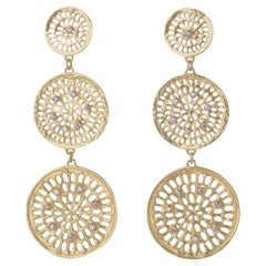 Joan Hornig Triple Diamond Pinwheel Earrings