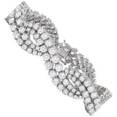 Certified 18.10 Carat Graduated Diamond Bracelet