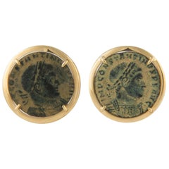 Ella Gafter Ancient Coin Yellow Gold Cufflinks