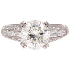 Sophia D 2.40 Carat Diamond Platinum Engagement Ring