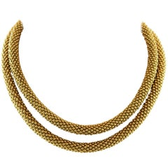 Chaumet, 18 Karat Yellow Gold Necklace
