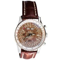 Breitling Stainless Steel Montbrillant Navitimer Datora Automatic Wristwatch