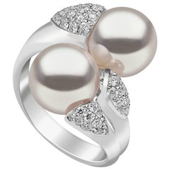 Yoko London South Sea Pearl Ring in White Gold with White Diamonds