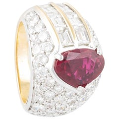 Ella Gafter Ruby and Diamond Gold Ring
