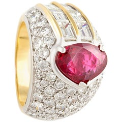 Ella Gafter Ruby Diamond Cocktail Pinky Ring