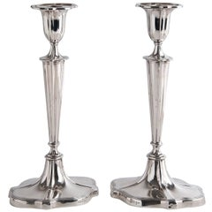 Pair of Sterling Silver Candlesticks '925‰', Walker and Hall, 1908-1909 Chester