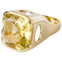 "Joan Hornig ""Empower"" 20 Carat Beryl Gold Cocktail Ring"