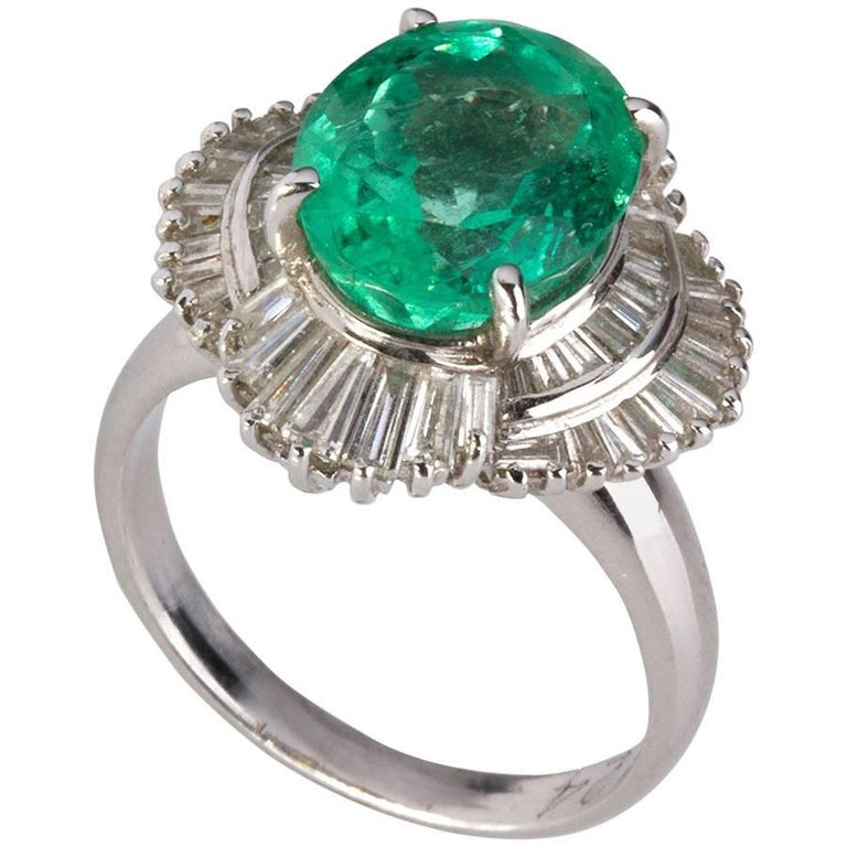 Emerald Diamond Gold Ring