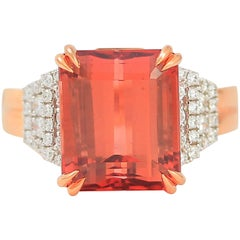 Frederic Sage 9.47 Carat Peach Tourmaline One of Kind Ring