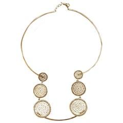 Joan Hornig Black Diamond Pinwheel Necklace