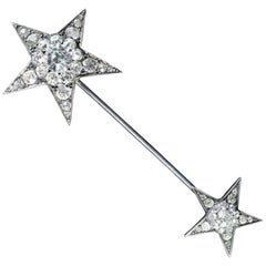 Antique Victorian Star Jabot Paste Pin, circa 1900