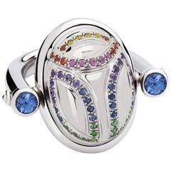 Colleen B. Rosenblat White Gold Scarab Ring