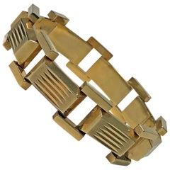 1940s Retro  Rose Gold Tank Bracelet