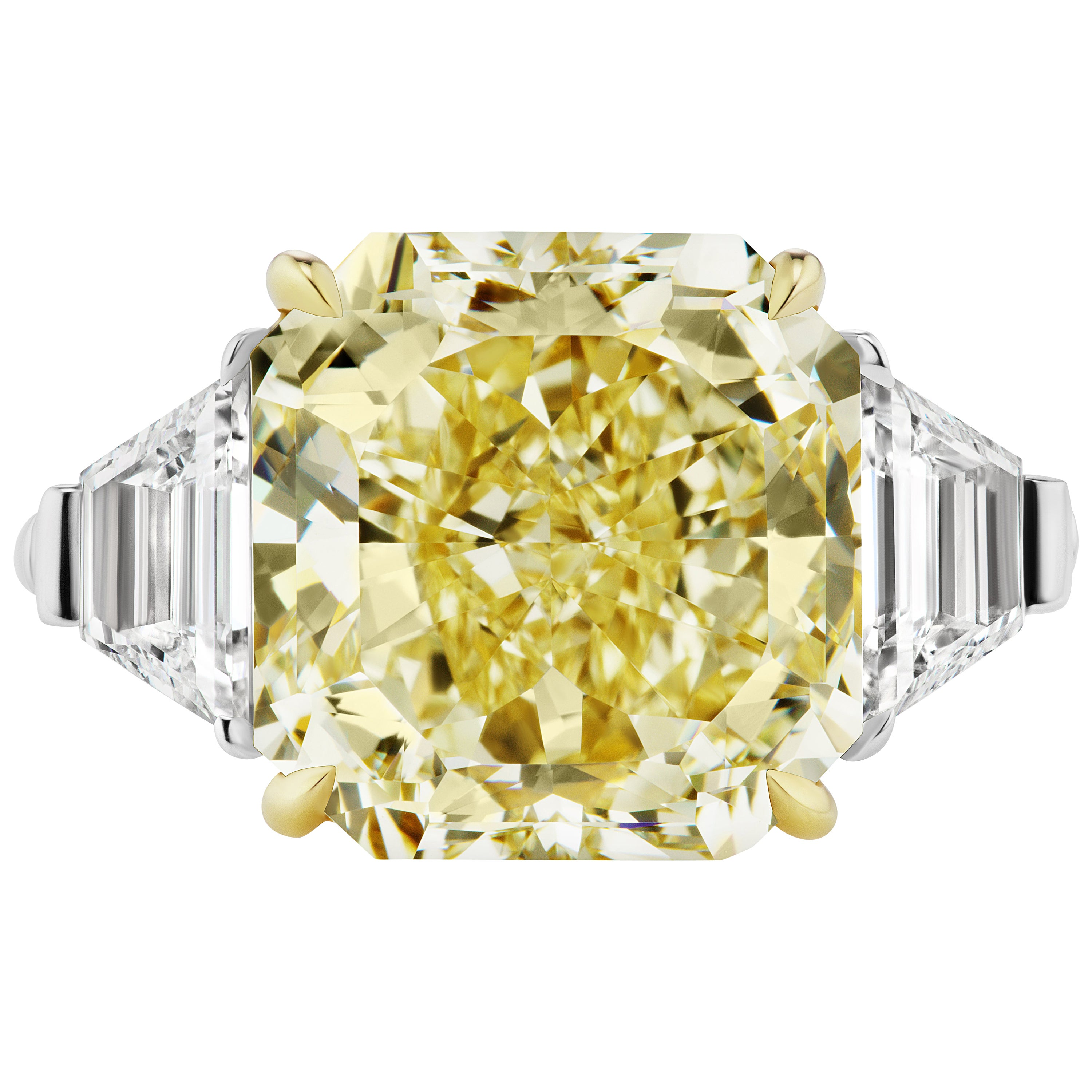 Scarselli GIA Certified 8 Carats Yellow Radiant Cut Diamond Engagement Ring