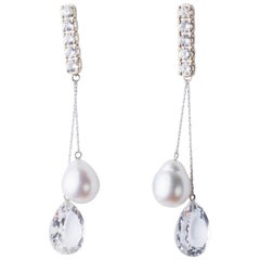 Joan Hornig White Gold 5 Madison Earrings with Detachable Drops