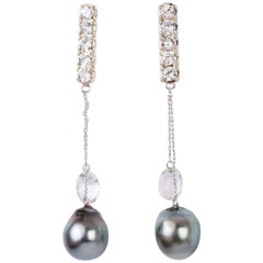 Joan Hornig White Gold 5 Madison Earring with Detachable Earring Drops