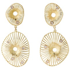 Joan Hornig Gold Clip-on Magic Roomi Earrings