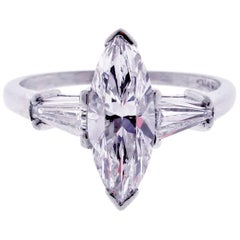 1.80 carat D-VS2 Marquise Diamond Ring