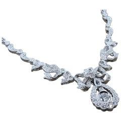 Antique Inspired Diamond Platinum Necklace