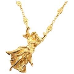 Salvador Dali Carmen La Crotalos Yellow Gold Necklace Bracelet Set