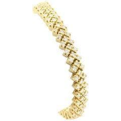 Vintage Diamond and Gold Bracelet
