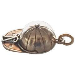 Rare Antique Novelty Gold Jockey's Cap Compass, 1896