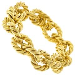 1970s Chic Link Gold Bracelet