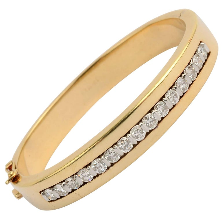 Tiffany & Co. Diamond Gold Bangle Bracelet
