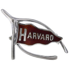 Harvard Sterling and Enamel Pin
