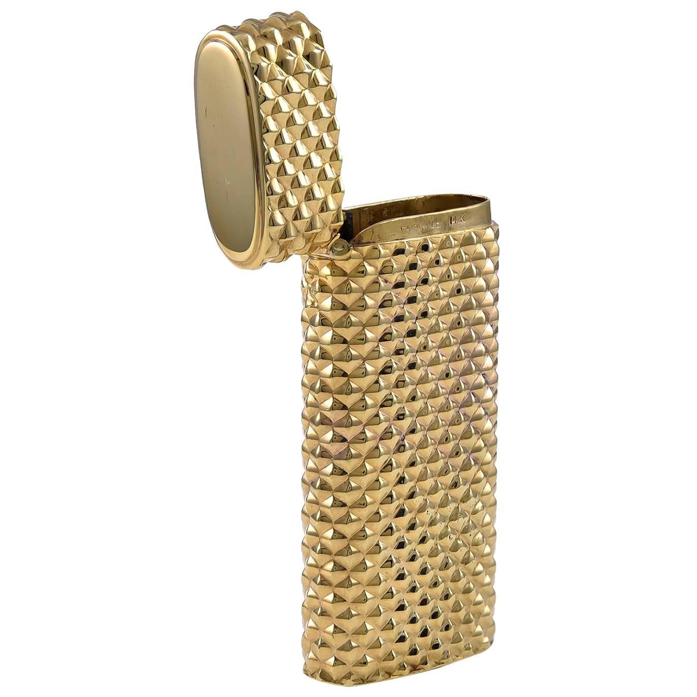 Antique Gold Match Safe/Pill Box
