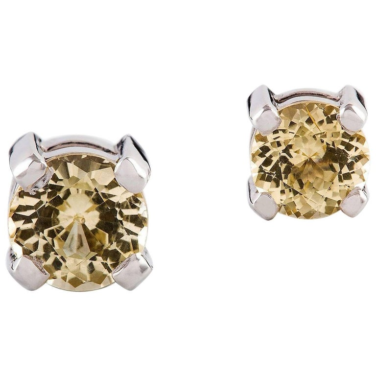 earrings product boca two set sapphire yellow diamond raton tone and stud pave