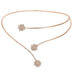 Nadine Aysoy Petite Tsarina 18K Rose Gold and Diamond Choker Necklace