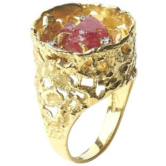 Spinel and Diamond Ring by John Donald