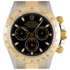 Rolex Cosmograph Daytona Gents Steel and Gold Black Dial 116523 Automatic Watch