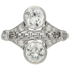 Art Deco Diamond Cluster Ring, circa 1925