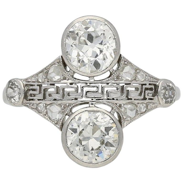 Art Deco Diamond Cluster Ring, circa 1925