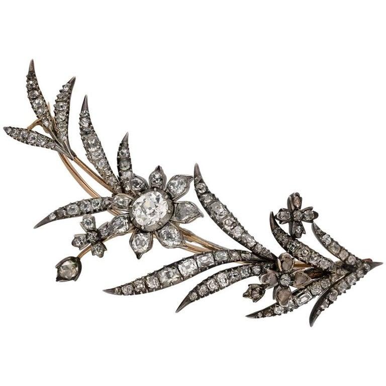 Georgian Diamond Brooch, circa 1770