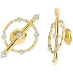 Yvonne Leon's Earring in 18 Karat Gold Yellow Gold and Diamonds