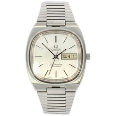 Omega Stainless Steel Seamaster Day Date Automatic Wristwatch Ref 1660213