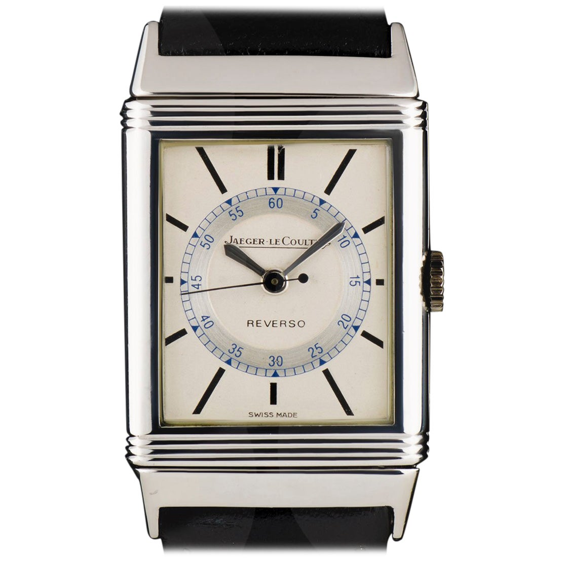 Jaeger LeCoultre Reverso Vintage Gents Steel Silver Dial Manual Wind Wristwatch