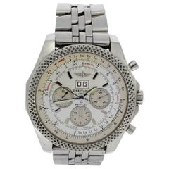 Breitling for Bentley Stainless Steel White Dial Wristwatch Ref A4436412, 2011
