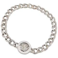 Gianna Versace Kette Medusa 18 Karat White Gold Bracelet