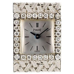 Piaget Diamond Set Ladies White Gold Silver Dial 3819P5 Manual Wind Wristwatch